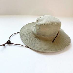 DPC Fishing Bucket Hat Vented Mesh Strap Medium